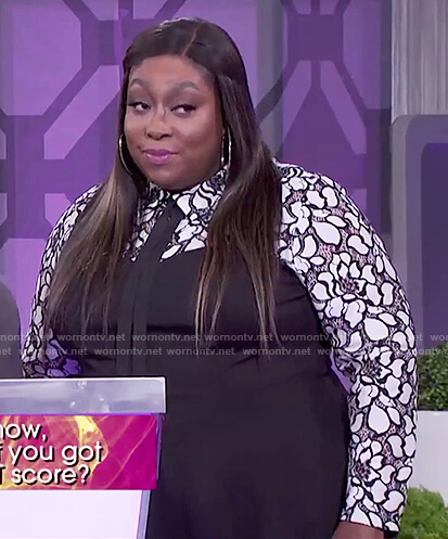 Loni's floral lace top on The Real