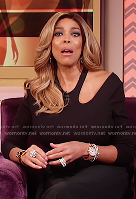 Wendy's black bodysuit with cutouts on The Wendy Williams Show