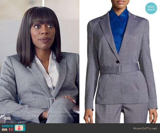 Boss Jalesa Wool Jacket worn by Molly Carter (Yvonne Orji) on Insecure