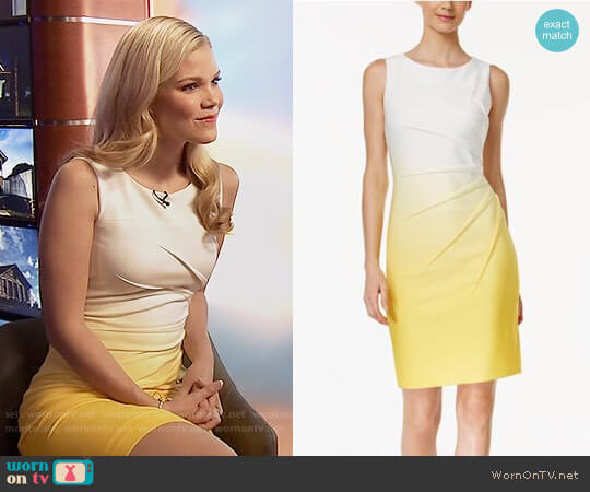 Calvin Klein Ombre Starburst Sheath Dress worn by Dani (Victoria Staley) on Being Mary Jane