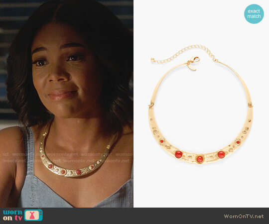 Chicos Lisette Collar Necklace worn by Mary Jane Paul (Gabrielle Union) on Being Mary Jane