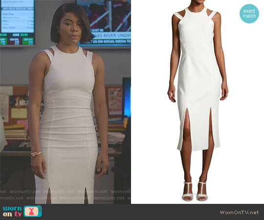 Henriette Strappy Sleeveless Midi Dress by Cinq a Sept worn by Gabrielle Union on Being Mary Jane