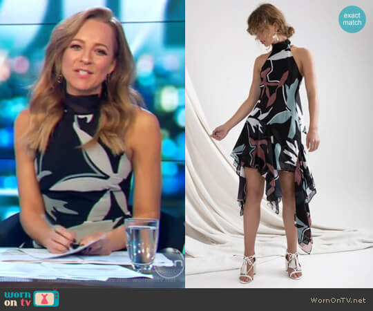 Take a Hold Dress by C/Meo Collective worn by Carrie Bickmore  on The Project