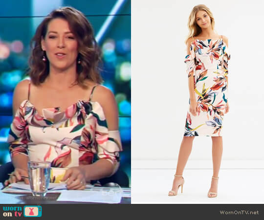 Gigi Flounce Dress by Cooper st worn by Gorgi Coghlan  on The Project