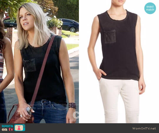Cotton Citizen Marbella Muscle Supima Cotton Tank Top worn by Kaitlin Olson on The Mick