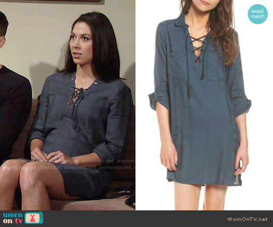 Cupcakes and Cashmere Vasha Dress worn by Juliet Helton (Laur Allen) on The Young & the Restless