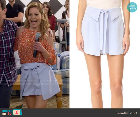 10 Crosby Derek Lam Wrap Front Shorts worn by DJ Tanner-Fuller (Candace Cameron Bure) on Fuller House