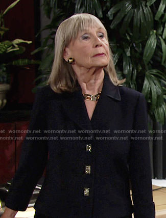Dina's turnlock jacket on The Young and the Restless