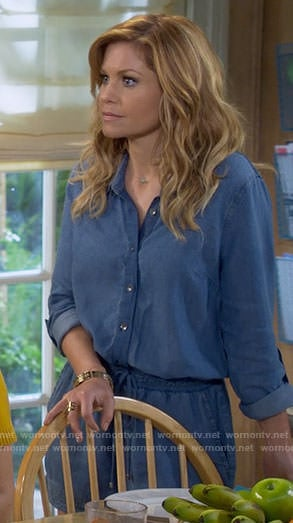 DJ's chambray romper on Fuller House