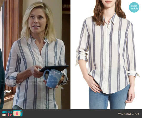 DL1961 Mercer & Spring Shirt worn by Julie Bowen on Modern Family