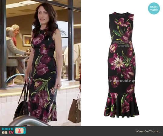 Dolce & Gabbana Tulip Print Dress worn by Lisa Edelstein on GG2D