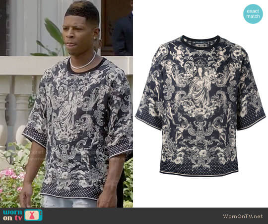 Dolce & Gabbana Virgin Mary Print T-shirt worn by Bryshere Y. Gray on Empire