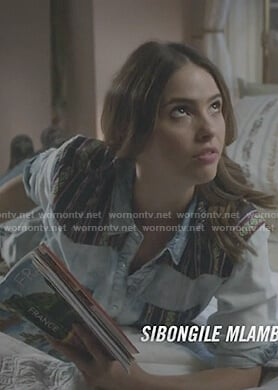 Malia's stone washed denim top on Teen Wolf