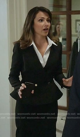Emily's black peplum jacket on Designated Survivor