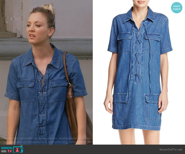 Equipment Knox Denim Dress worn by Penny Hofstadter (Kaley Cuoco) on The Big Bang Theory