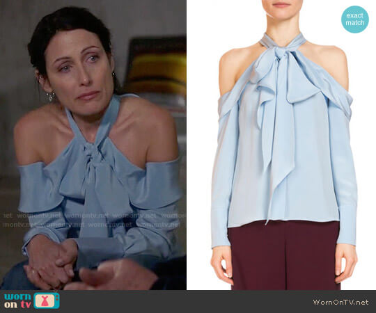 Erdem Aila Top worn by Lisa Edelstein on GG2D