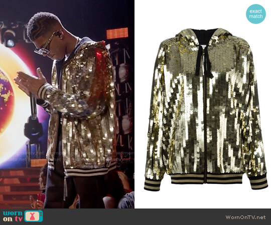 Faith Connexion Sequins Embellished Bomber Jacket worn by Hakeem Lyon (Bryshere Y. Gray) on Empire