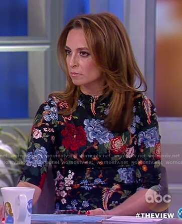 Jedediah's floral high neck dress on The View