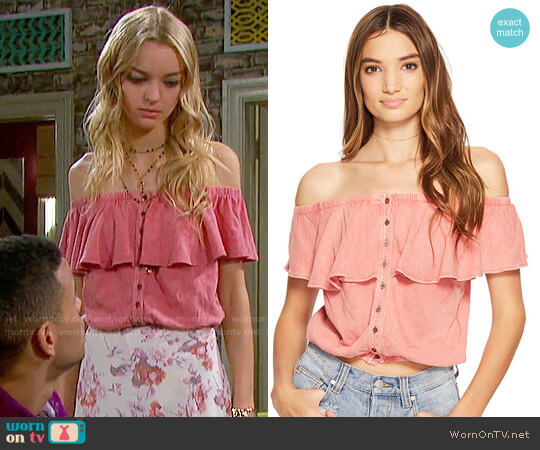 Free People Love Letter Tube Top worn by Olivia Rose Keegan on Days of our Lives