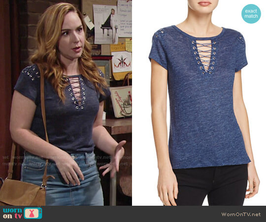 Generation Love Hugo Top worn by Mariah Copeland (Camryn Grimes) on The Young & the Restless