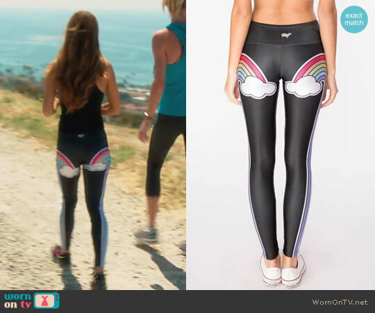 Double Rainbow Leggings by Gold Sheep Clothing worn by Lydia McLaughlin on The Real Housewives of Orange County
