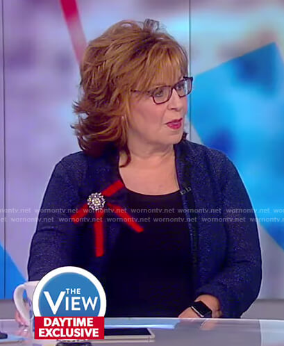 Joy's ribbon brooch on The View