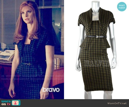 Gucci Wool Houndstooth Dress worn by Sarah Rafferty on Suits