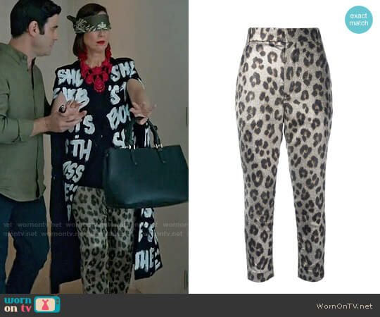 Haider Ackerman Leopard Print Pants worn by Miriam Shor on Younger