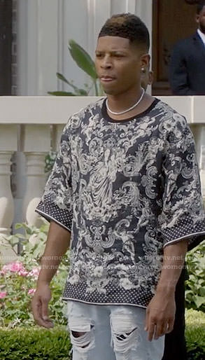 Hakeem's virgin mary print shirt on Empire
