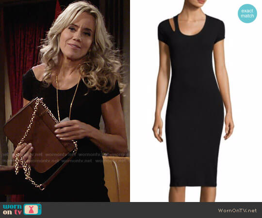 Helmut Lang Cutout Cotton Midi Dress worn by Alice Johnson (Tamara Clatterbuck) on The Young & the Restless