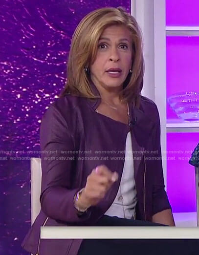 Hoda's purple zip jacket on Today