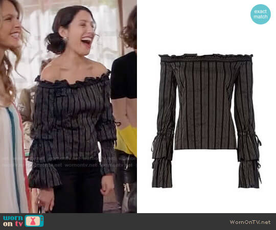 Exclusive for Intermix Sophia Top worn by Abby McCarthy (Lisa Edelstein) on GG2D
