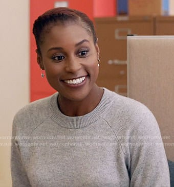 Issa's grey sweater on Insecure