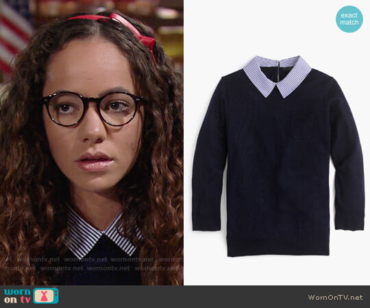 J. Crew Collared Tippi Sweater worn by Mattie Ashby (Lexie Stevenson) on The Young & the Restless