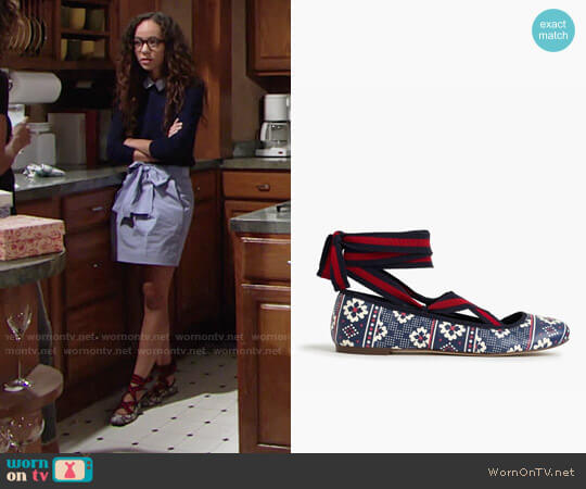 J. Crew Lily Lace-up Ballet Flats worn by Mattie Ashby (Lexie Stevenson) on The Young & the Restless