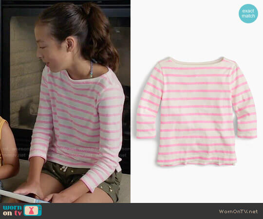 J. Crew Girls' Striped T-shirt worn by Aubrey Anderson-Emmons on Modern Family