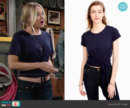 J. Crew Wrap T-shirt worn by Sharon Case on The Young & the Restless
