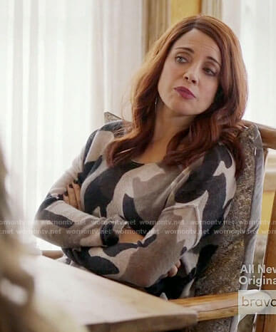 Jo's camouflage sweater on Girlfriends Guide to Divorce