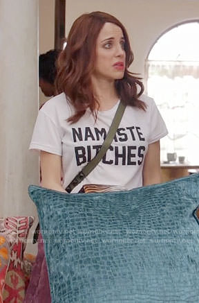 Jo's Namaste Bitches tee on Girlfriends Guide to Divorce