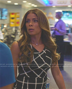 Kara's black and white checked dress on Being Mary Jane