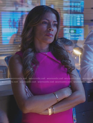 Kara's pink folded neck dress on Being Mary Jane
