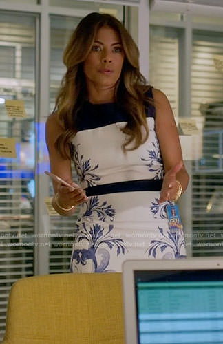 Kara's blue and white floral dress on Being Mary Jane