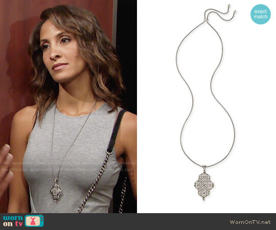 Kendra Scott Kathy Necklace worn by Lily Winters (Christel Khalil) on The Young & the Restless