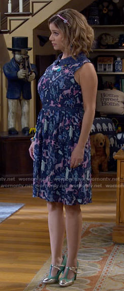 Kimmy's constellation print dress on Fuller House