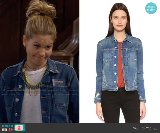 L'Agence Celine Denim Jacket worn by Candace Cameron Bure on Fuller House
