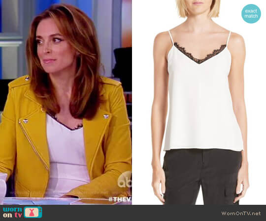 Lia Lace-Trimmed Silk Camisole by L'Agence worn by Jedediah Bila  on The View