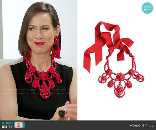 Lanvin for H&M Red Necklace worn by Miriam Shor on Younger
