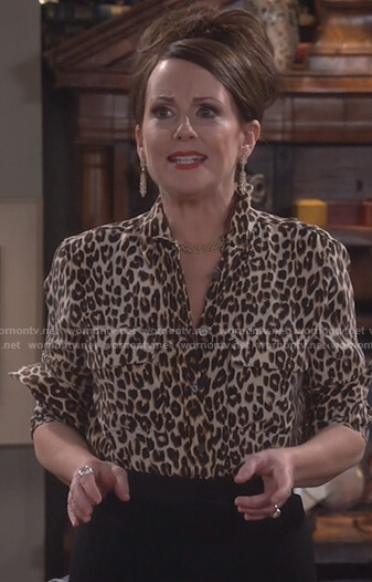 Karen's leopard print top on Will and Grace