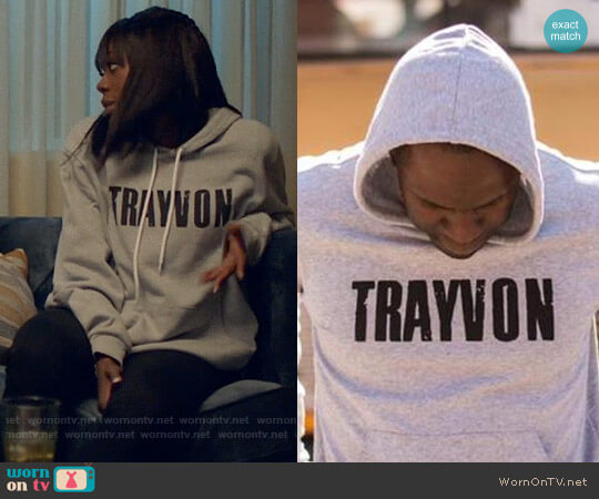 Liberated People Our Son Trayvon Hoodie worn by Yvonne Orji on Insecure