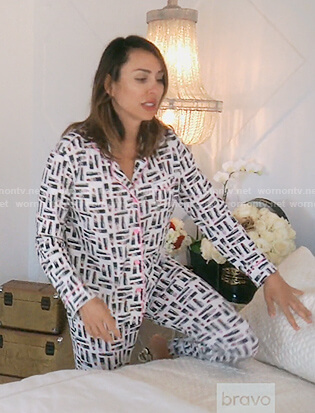 Kelly's lipstick print pyjamas on The Real Housewives of Orange County